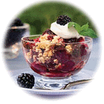 Try our delicious blackberry cobbler
